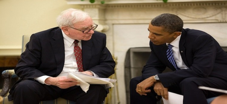 President Barack Obama and Warren Buffett in the Oval Office July 14 2010