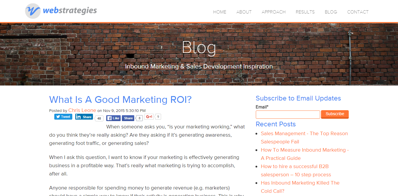 What is a good marketing ROI Article